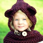 Hooded Bear Cowl, Choose your own color, Baby Bear Neck Warmer, Bear Hood Hat, Kids Cowl, Toddler Neck Warmer, Bear Neck Warmer