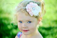 Blush Pink Flower Headband, Newborn Photography Prop, Newborn to Adult sizes, Flower Girl Accessory, Baby Girl Hair Accessories, Newborn Flower Headband