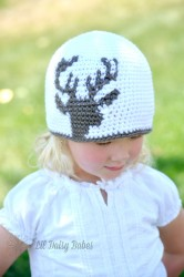 Kids Deer Hat, Toddler to Adult Sizes