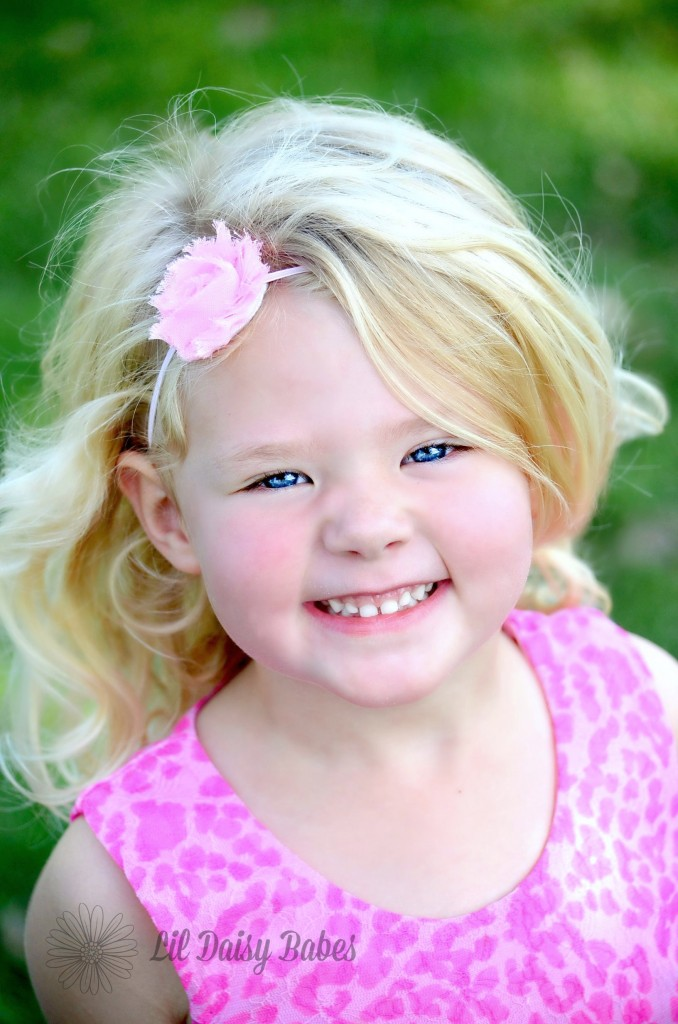 Pink Shabby Flower Headband, Newborn Photography Prop, Newborn to Adult sizes, Baby Girl Hair Accessories, Shabby Flower Headband