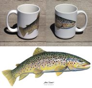 Brown Trout Large 15 oz Mug