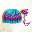 Hand-knit Owl Hat Toddler