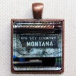Big Sky Country Montana Mudflap Photo Pendant