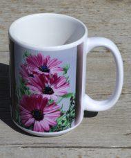 purple daisies mug