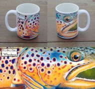 Brown Trout Head on Mug