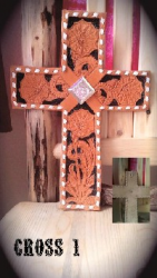 HAND TOOLED CROSS