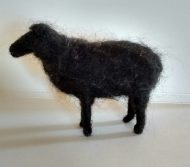 Needle Felted Black Sheep